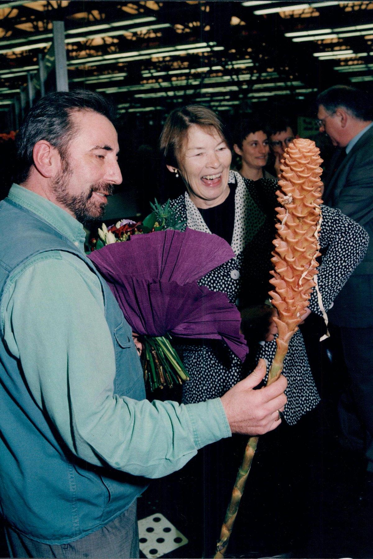 Dennis Edwards With Glenda Jackson