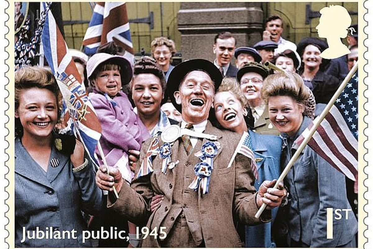 George Sumpter On Ve Day Stamp