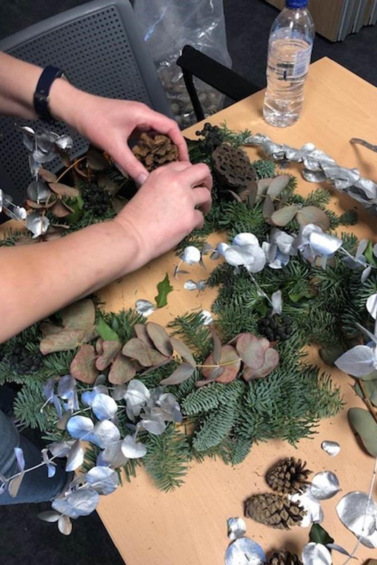 Making A Wreath 2