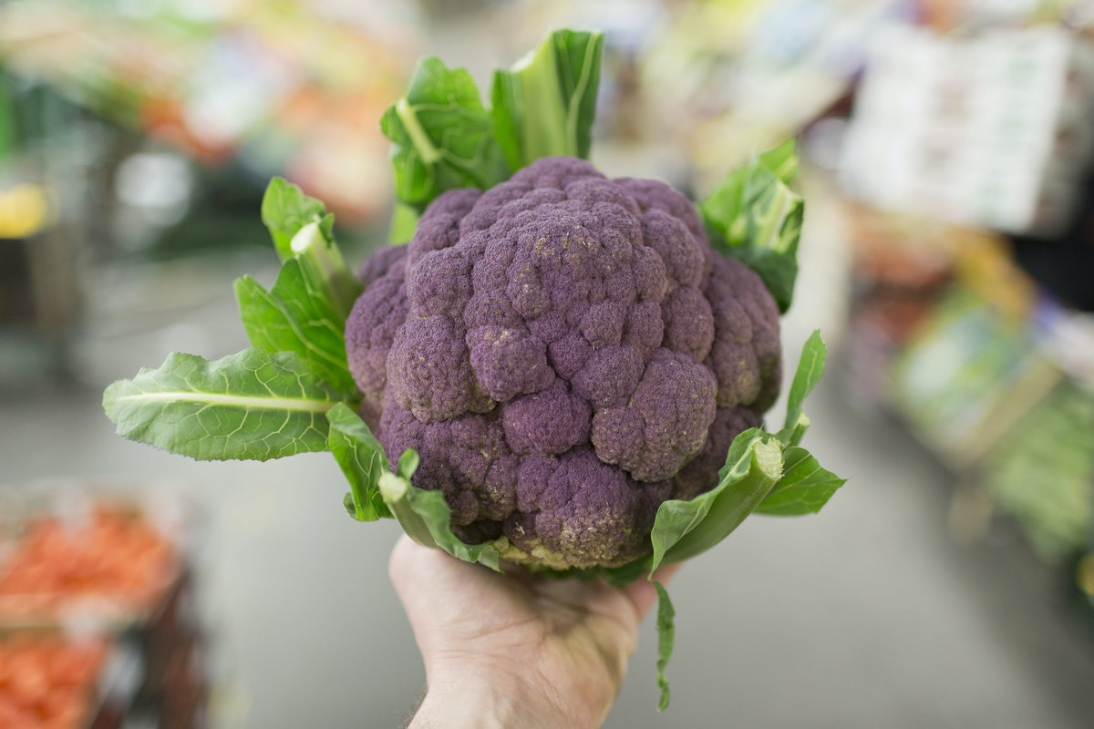 Fruit And Vegetable Market Report February 2016 Purple Cauliflower