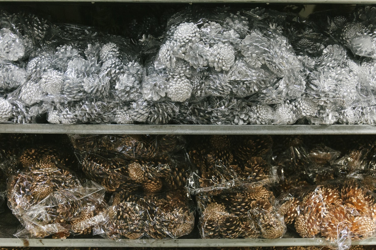 New Covent Garden Flower Market A Florists Guide To Christmas At The Flower Market Rona Wheeldon Flowerona November 2019 Sprayed Pine Cones At Porters Foliage