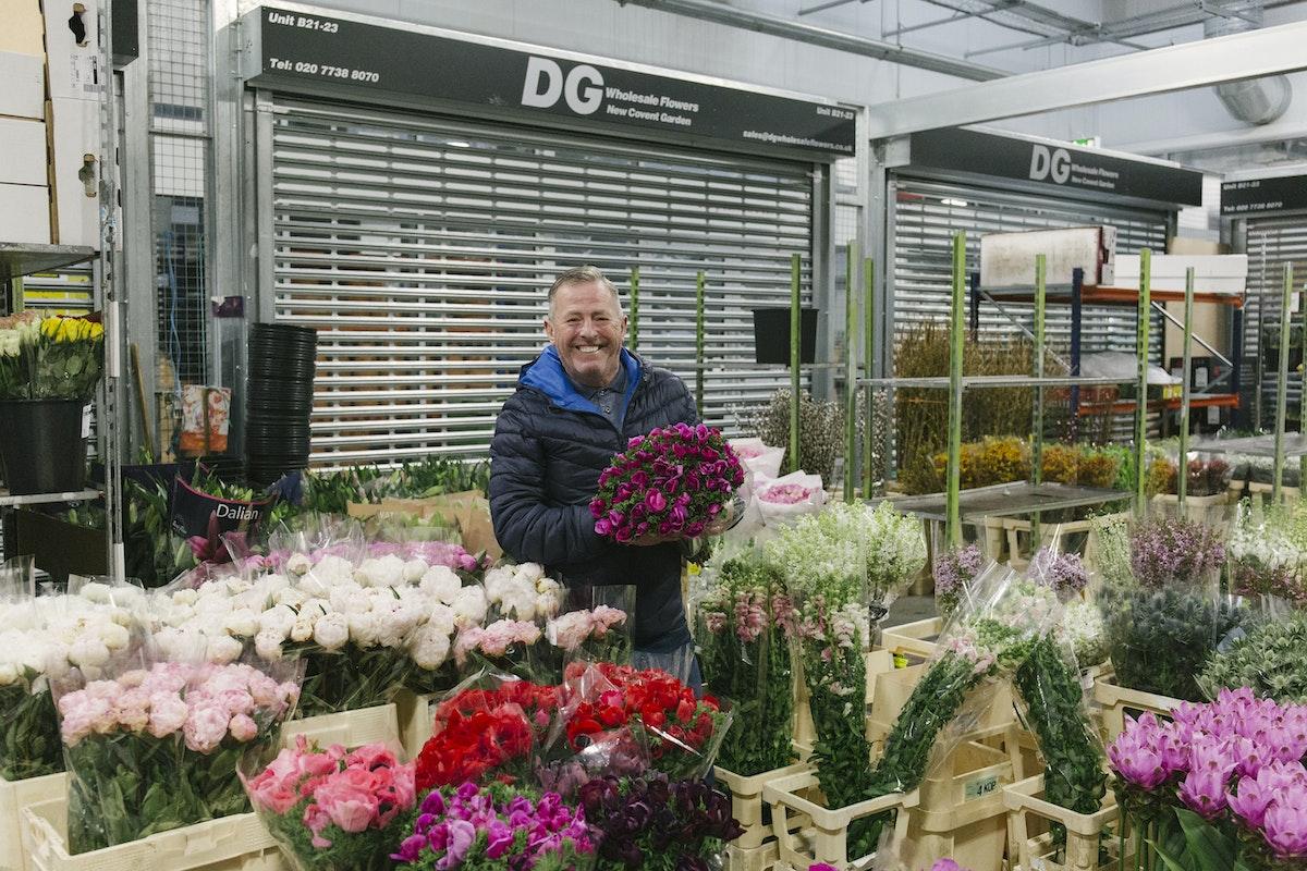 New Covent Garden Flower Market February 2020 In Season Report Rona Wheeldon Flowerona Trevor At Dg Wholesale Flowers