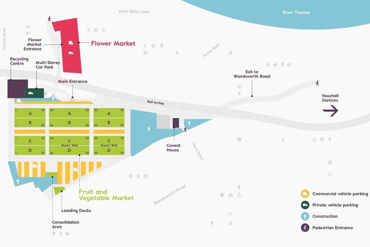 New Covent Garden Market Map