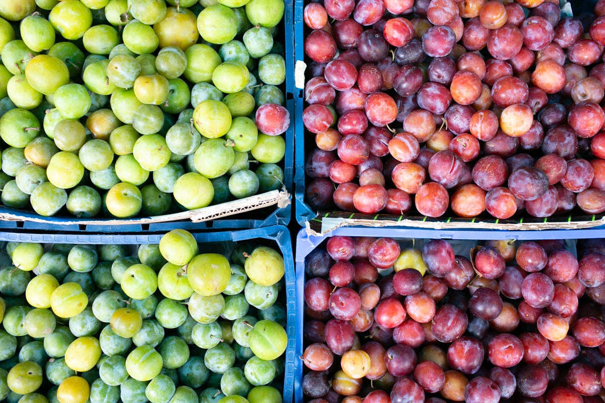 Fruit And Vegetable Market Chefs Guide To Plums Mixed Selection
