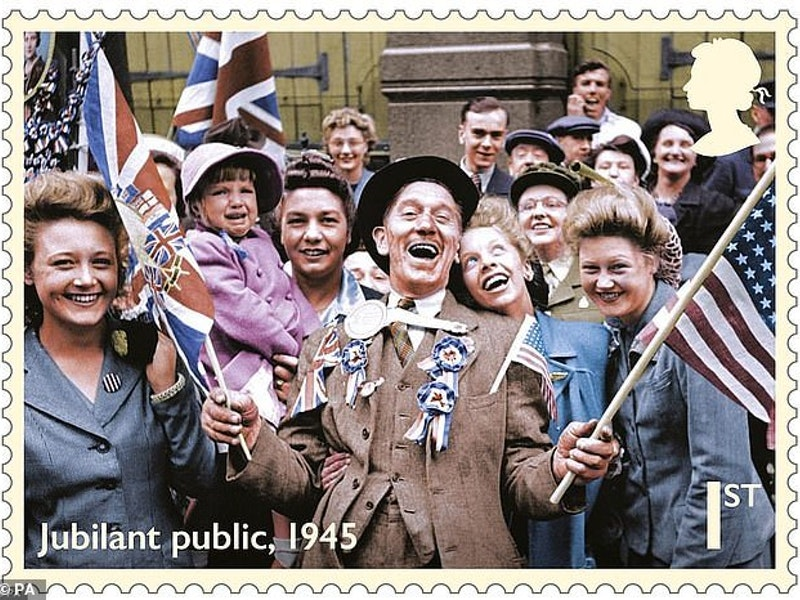 Covent Garden Market trader the face of VE Day stamp