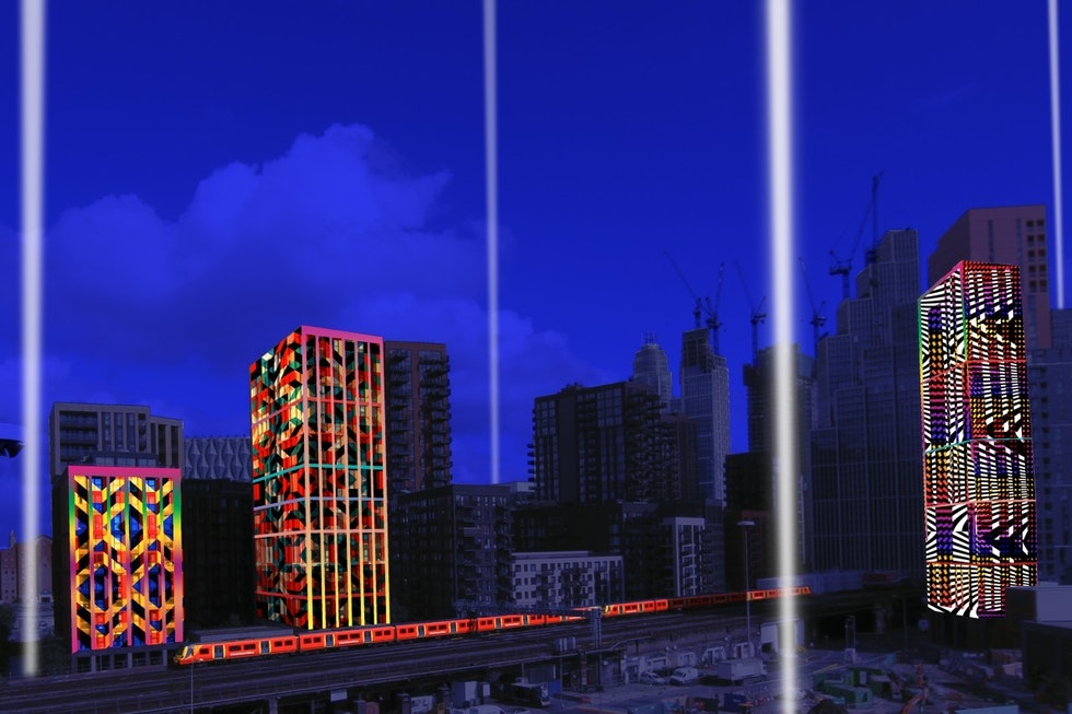 Lights to be projected from the market for Line of Light Festival