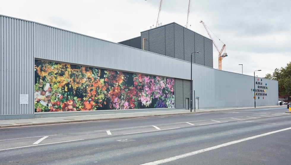 New artwork installed on the Flower Market facade